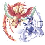 bird ho-oh lowres lugia no_humans pixel_art pochi_(pochi_tama) pokemon pokemon_(creature) pokemon_(game) pokemon_gsc transparent_background
