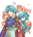 brother_and_sister eirika ephraim fingerless_gloves fire_emblem fire_emblem:_seima_no_kouseki fire_emblem_sacred_stones gloves green_hair kizuki_miki long_hair miki_kizuki siblings