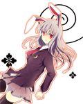 bad_id blazer bunny_ears lacie long_hair ma_(pixiv) necktie purple_hair rabbit_ears red_eyes reisen_udongein_inaba skirt thigh-highs thighhighs touhou zettai_ryouiki