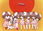 brown_hair bunny_ears clone inaba_tewi kani rabbit_ears red_eyes short_hair tail thigh-highs thighhighs touhou