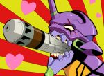 entry_plug fangs heart inuyagi mecha neon_genesis_evangelion no_humans pocky_day