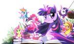 applejack book caibao fluttershy my_little_pony my_little_pony_friendship_is_magic pinkie_pie rainbow_dash rarity twilight_sparkle