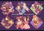 6+girls alternate_costume blue_(pokemon) crystal_(pokemon) dated dress drifloon gengar happy_halloween haruka_(pokemon) hat hikari_(pokemon) kabocha_torute kotone_(pokemon) litwick mei_(pokemon) misdreavus multiple_girls pink_dress pokemon pokemon_(creature) pokemon_(game) pokemon_bw pokemon_bw2 pokemon_dppt pokemon_frlg pokemon_gsc pokemon_hgss pokemon_rse pokemon_xy pokewood pumpkaboo pumpkin_hat serena_(pokemon) shedinja shuppet touko_(pokemon) twitter_username witch_hat yamask