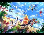 absol beach black_hair blue_eyes brown_hair castform character_request corphish flygon haruka_(pokemon)_(remake) ibui_matsumoto latias latios mightyena minun mudkip ocean plusle pokemon pokemon_(creature) pokemon_(game) pokemon_oras ralts sableye shroomish shuppet skitty torchic treecko tropius wailord water wingull yuuki_(pokemon)_(remake)