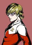1boy barnaby_brooks_jr blonde_hair en_(en-chune) glasses jacket red_jacket solo tiger_&_bunny