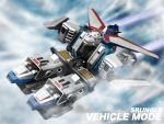 3d akuu_daisakusen_srungle clouds energy_cannon english flying mecha military military_vehicle realistic science_fiction space_craft srungle_(mecha) vehicle