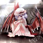 barefoot dress fang niku_tsutsumi_k remilia_scarlet sketch touhou