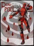1boy artist_name blood bodysuit character_name cheonha87 deadpool drop katana korean marvel mask solo sword weapon