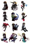 3d_glasses 6+boys 6+girls aradia_megido black-framed_glasses black_hair bow cane cape cat_tail chainsaw coat dice equius_zahhak eridan_ampora fang fangs feferi_peixes gamzee_makara glasses goggles grey_skin highres homestuck horns jacket jewelry kanaya_maryam karkat_vantas kuroblood lance long_hair long_skirt makeup mohawk multicolored_hair multiple_boys multiple_girls necklace nepeta_leijon open_mouth oversized_clothes polearm red_glasses red_sclera scarf sharp_teeth short_hair sickle sitting skirt smile sollux_captor striped striped_scarf sunglasses sweater tail tank_top tavros_nitram terezi_pyrope trident two-tone_hair vriska_serket wand wariza weapon wheelchair yellow_sclera