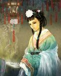 braid bun butterfly chinese flower hair_bun lamp skeleton source_request twintails veil zakuron