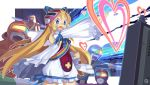blue_eyes disgaea flonne heart long_hair prinny prism_rangers rainbow rainbows sentai