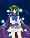 blue_eyes blush fire_emblem fire_emblem:_rekka_no_ken fire_emblem_blazing_sword green_hair hairband magic nino_(fire_emblem) short_hair skirt