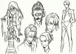 3boys beard cane concept_art eyepatch facial_hair formal goatee kill_la_kill kiryuuin_ragyou matoi_isshin mouse multiple_boys suit sushio trigger_(company)
