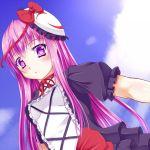 1girl bow dress hata_no_kokoro hijiri_byakuren hijiri_byakuren_(cosplay) long_hair mask pink_eyes pink_hair plaid plaid_shirt ribbon solo touhou tsujimoto_nao