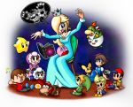 :d artist_request backpack bag blonde_hair blue_dress book bowser bowser_jr. brown_hair chair child crown diddy_kong donkey_kong_(series) doubutsu_no_mori dress earrings fang floating frown girl_on_top hair_over_one_eye happy hat headwear ice_climber ice_climbers jewelry kirby kirby_(series) koopa_clown_car link lucas luma mecha_drago monkey mother_(game) musical_note nana_(ice_climber) neckerchief ness open_mouth pichu pokemon popo_(ice_climber) rockman rockman_(character) rockman_(classic) rosalina_(mario) sitting sitting_on_lap sitting_on_person sleeping smile solid_oval_eyes star sulking super_mario_bros. super_smash_bros. the_legend_of_zelda toon_link turtle villager_(doubutsu_no_mori) zzz