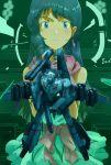 alien choujikuu_yousai_macross dress earrings energy_weapon gloves gunpod heads-up_display hologram ichijou_hikaru inui_(jt1116) jewelry long_hair lynn_minmay macross macross:_do_you_remember_love? mecha microphone missile rocket_launcher science_fiction sdf-1 space_craft spoilers u.n._spacy vf-1 vf-1_strike vf-1j weapon zero_gravity