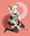 aikatsu! blush dress green_eyes grey_hair long_hair tails toudou_yurika twin