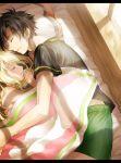 1boy 1girl absurdres bed_sheet highres kagerou_project kozakura_mary mekakucity_actors mikura_(miraclemicro) seto_kousuke sleeping