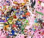 6+boys 6+girls absolutely_everyone alph_(pikmin) arm_cannon basket bird black_eyes black_hair blonde_hair blue_eyes blue_hair blush blush_stickers bob-omb bodysuit bowser bowser_jr. box_of_chocolates boxing_gloves breasts brothers brown_hair cape capri_pants captain_falcon charizard chef_hat chocolate chocolate_bar chocolate_heart closed_eyes crown cup cupcake diddy_kong dog dog_(duck_hunt) donkey_kong donkey_kong_(series) doubutsu_no_mori dr._mario dr.mario dress dual_persona duck duck_(duck_hunt) duck_hunt earrings elbow_gloves everyone f-zero facial_hair falco_lombardi father_and_son fire_emblem fire_emblem:_akatsuki_no_megami fire_emblem:_kakusei fire_emblem:_monshou_no_nazo fox_mccloud game_&_watch ganondorf gloves goddess gorilla green_eyes greninja gun hair_ornament hair_over_one_eye hat head_mirror headband heart helmet highres hooded_jacket iggy_koopa ike jewelry jigglypuff kid_icarus kid_icarus_uprising king_dedede kirby kirby_(series) koopa_clown_car larry_koopa lemmy_koopa link little_mac long_coat long_hair long_sleeves lucario lucina ludwig_von_koopa luigi luma mario mario_(series) marth mask medicine meta_knight metroid mewtwo midriff mii_(nintendo) morton_koopa_jr. mother_(game) mother_2 mr._game_&_watch multiple_boys multiple_girls mustache my_unit navel necklace necktie ness nintendo nintendo_3ds olimar outstretched_arm overalls pac-man pac-man_(game) pac-man_eyes pale_skin palutena pants payot pikachu pikmin pikmin_(creature) pink_background pink_hair pointy_ears pokemon pokemon_(game) pokemon_dppt pokemon_xy ponytail pouch princess_peach princess_zelda punch-out!! r.o.b reaching rockman rockman_(character) rockman_(classic) rosetta_(mario) roy_koopa samus_aran scarf sheik shoulder_pads shulk siblings sleeveless solid_oval_eyes sonic sonic_the_hedgehog star_fox super_mario_bros. super_mario_galaxy super_smash_bros. sweatdrop tank_top teacup the_legend_of_zelda tiara tongue tunic twilight_princess twintails valentine varia_suit vest villager_(doubutsu_no_mori) wario warioware weapon wendy_o._koopa white_gloves white_hair white_skin wii_fit wii_fit_trainer wind_waker wristband xenoblade yellow_eyes yoshi yuino_(fancy_party) zero_suit