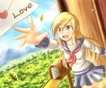 absurdres blonde_hair derpy_hooves dior-zi highres letter mailbox my_little_pony personification