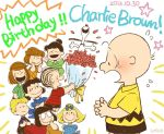 3boys 6+girls birthday black_hair blanket blonde_hair blush bouquet bow brother_and_sister brown_hair charles_schulz_(style) charlie_brown closed_eyes dress flower freckles glasses hair_bow instrument linus_van_pelt lucy_van_pelt marcie_(peanuts) multiple_boys multiple_girls open_mouth patty_(peanuts) peanuts peppermint_patty piano sally_brown schroeder shirt short_hair siblings smile snoopy striped striped_shirt uriko violet_gray