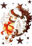 1girl box carrying christmas_tree dress gift gift_box hat kantai_collection long_hair looking_at_viewer mittens northern_ocean_hime santa_hat shimesaba_(masuraoburi) shinkaisei-kan smile solo star white_dress white_hair white_skin