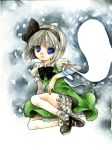 blue_eyes colored_pencil_(medium) ghost hairband konpaku_youmu konpaku_youmu_(ghost) marker_(medium) myon short_hair silver_hair solo touhou traditional_media watercolor_(medium) yucke_(artist)