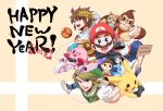 1girl 2015 6+boys :d amiibo animal_crossing:_city_folk blue_eyes blush cape controller donkey_kong donkey_kong_(series) doubutsu_no_mori earrings facial_hair fire_emblem fire_emblem:_kakusei fox_mccloud game_controller gamecube_controller gamepad grin hat hoshi_no_kirby jewelry kid_icarus kirby kirby_(series) kirby_air_ride krom laurel_crown link looking_at_viewer mario mario_(series) metroid morph_ball multiple_boys mustache nintendo nintendo_3ds one_eye_closed open_mouth pikachu pit_(kid_icarus) playing_games pointy_ears pokemon pokemon_(creature) samus_aran signpost smile star_fox super_mario_bros. super_smash_bros. super_smash_bros._ultimate super_smash_bros_brawl super_smash_bros_for_wii_u_and_3ds the_legend_of_zelda translation_request villager_(doubutsu_no_mori) wii_fit wii_fit_trainer wii_nunchuk wii_remote wings