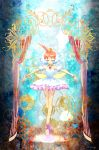 1girl ahiru ahoge ballerina ballet_slippers bare_shoulders bracelet closed_eyes crown frills highres jewelry magical_girl multicolored_hair necklace pose princess_tutu princess_tutu_(character) puffy_sleeves short_hair skirt smile solo suitsugu tutu white_hair wings