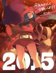 1girl 2015 blue_eyes blue_hair breasts camerupt crobat gloves hoodie large_breasts mightyena pokemon pokemon_(game) pokemon_oras ribbed_sweater short_hair shorts solo sweater takayanagi_katsuya team_magma_grunt team_magma_grunt_(remake) turtleneck