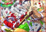 6+girls akatsuki_(kantai_collection) animal_costume christmas failure_penguin food fusou_(kantai_collection) hat hibiki_(kantai_collection) ikazuchi_(kantai_collection) inazuma_(kantai_collection) jun'you_(kantai_collection) kaga_(kantai_collection) kantai_collection kiso_(kantai_collection) kongou_(kantai_collection) multiple_girls musashi_(kantai_collection) reindeer_costume rensouhou-chan santa_costume santa_hat shimakaze_(kantai_collection) sleigh tagme tatsuta_(kantai_collection) tenryuu_(kantai_collection) torinitea translation_request yamashiro_(kantai_collection) yamato_(kantai_collection)
