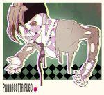 1boy dual_persona fusion gia_(aya) jojo_no_kimyou_na_bouken necktie pannacotta_fugo purple_haze_(stand) solo stand_(jojo)