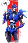 1girl arcee autobot dataglitch mecha no_humans robot science_fiction solo transformers_prime