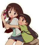 bag brown_eyes brown_hair cellphone child onozawa_mirai onozawa_yuuki phone skirt star tokyo_magnitude_8.0 wadaly