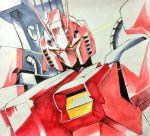 amazing_red_warrior bust daue gundam gundam_build_fighters gundam_build_fighters_try mecha solo traditional_media