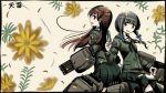 2girls heavens_thunder_(byakuya-part2) highres kantai_collection kitakami_(kantai_collection) looking_at_viewer marker_(medium) multiple_girls ooi_(kantai_collection) traditional_media
