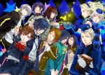 5girls 6+boys amano_maya arisato_minato black_hair blonde_hair blue_eyes blue_hair book brown_hair butterfly elizabeth_(persona) female_protagonist_(persona_3) grey_eyes grey_hair hair_ornament hair_over_one_eye hairband hairclip hat headphones kurosu_jun margaret multiple_boys multiple_girls narukami_yuu necktie persona persona_1 persona_2 persona_3 persona_3_portable persona_4 red_eyes school_uniform short_hair skirt smile sonomura_maki suou_tatsuya teodor toudou_naoya white-light yellow_eyes yuuki_makoto