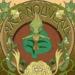 art_nouveau celebi joako leaf no_humans pokemon roserade serperior tagme tangrowth vines