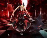 bat blazblue blonde_hair cat gii gothic_lolita lolita_fashion nago rachel_alucard red_eyes umbrella