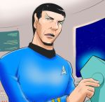 1boy alien black_hair e-senmio eyebrows leonard_nimoy pointy_ears science_fiction solo spock star_trek tagme uniform vulcan