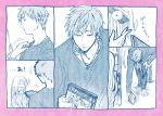 1boy 1girl comic hrt_(fujita_hiro) kabakura_tarou long_hair momose_narumi monochrome otaku_ni_koi_wa_muzukashii short_hair translation_request