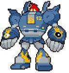 crossover golurk lowres megas_xlr no_humans pokemon pokemon_(creature) sprite_art