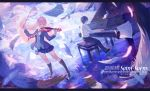 1boy 1girl arima_kousei black_hair blonde_hair glasses highres instrument long_hair miniskirt miyazono_kawori necktie piano school_uniform shigatsu_wa_kimi_no_uso sitting skirt usanekorin violin