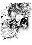 207 4boys artist_name bruno_bucciarati confetti flower giorno_giovanna gold_experience highres jojo_no_kimyou_na_bouken monochrome multiple_boys rose stand_(jojo) sticky_fingers_(stand) zipper