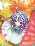 beni_shake blue_eyes blue_hair heterochromia highres red_eyes short_hair tatara_kogasa touhou umbrella