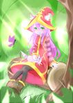 1girl absurdres animal_ears artist_request green_eyes highres league_of_legends lulu_(league_of_legends) pix purple_hair purple_skin
