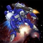 chibi flying macross macross_frontier mecha power_armor power_suit queadluun-rea zentradi
