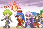 1boy 6+girls :d angry annoyed blue_eyes blue_hair blush boots bow_(weapon) cecilia_(fire_emblem) chibi closed_eyes clouds envy fire fire_emblem fire_emblem:_fuuin_no_tsurugi full-face_blush gameplay_mechanics green_eyes green_hair headband jewelry lalum lilina long_hair magic multiple_girls musical_note open_mouth orange_hair pantyhose polearm purple_hair reverse_(bluefencer) short_hair smile sofiya spear sue_(fire_emblem) thany very_long_hair violet_eyes weapon wolt