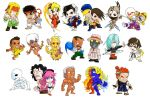 6+boys 6+girls alex_(street_fighter) artist_request brothers chibi chun-li commentary_request dudley effie elena_(street_fighter) everyone gill gouki hugo_andore ibuki_(street_fighter) ken_masters makoto_(street_fighter) multiple_boys multiple_girls necro_(street_fighter) oro_(street_fighter) poison_(final_fight) q_(street_fighter) remy_(street_fighter) ryuu_(street_fighter) sean_matsuda siblings simple_background street_fighter_iii:_3rd_strike twelve urien white_background yang_lee yun_lee