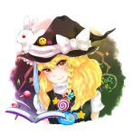 book braid bunny hat kirisame_marisa nuime numie rabbit short_hair touhou witch_hat yellow_eyes